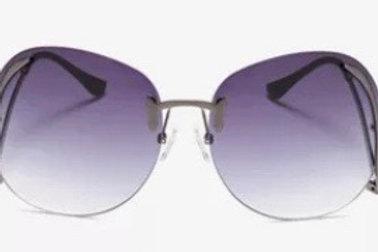 Rimless Bend Leg Sunglasses (Purple)