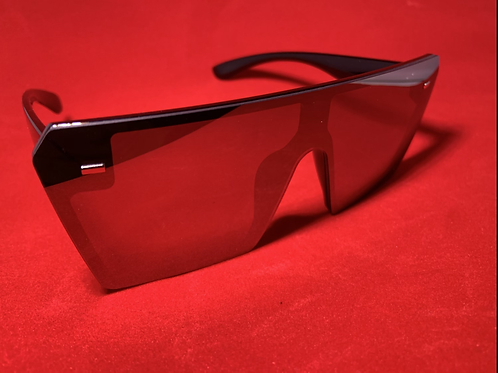 All Black Glam Sunglasses (Holographic)