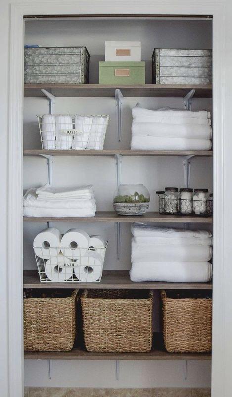 .Decorated Linen Closet.