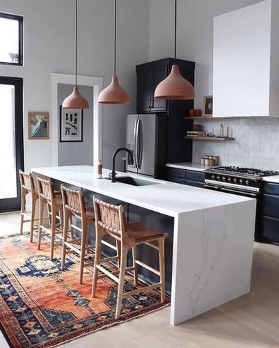 modern boho kitchen design