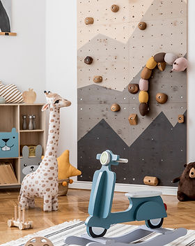 Scandinavian interior design of playroom