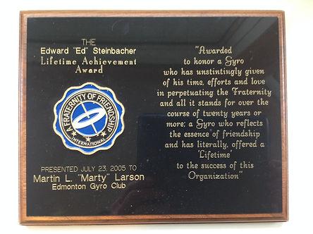 MLarson Award.JPG