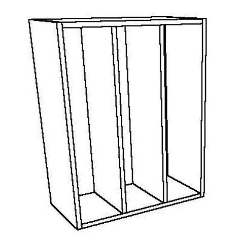 Open Wall Unit 2 Vertical Shelves