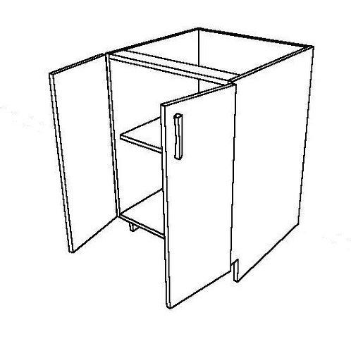 No False Drawer 2 Swing Doors Rotary Base Cabinet