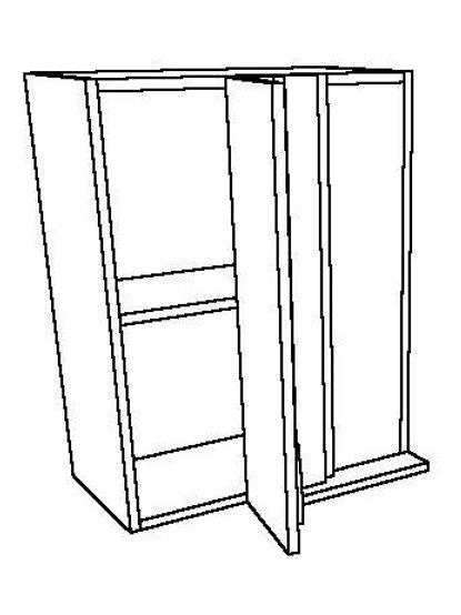 1 Swing Door, 1 Shelf Corner Wall Unit