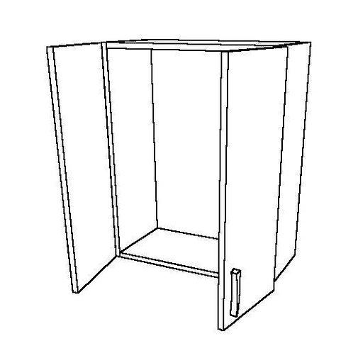 Short 2 Swing Doors 0 Shelf Wall Unit