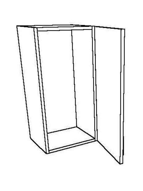 1 Swing Door 0 Shelf Wall Unit