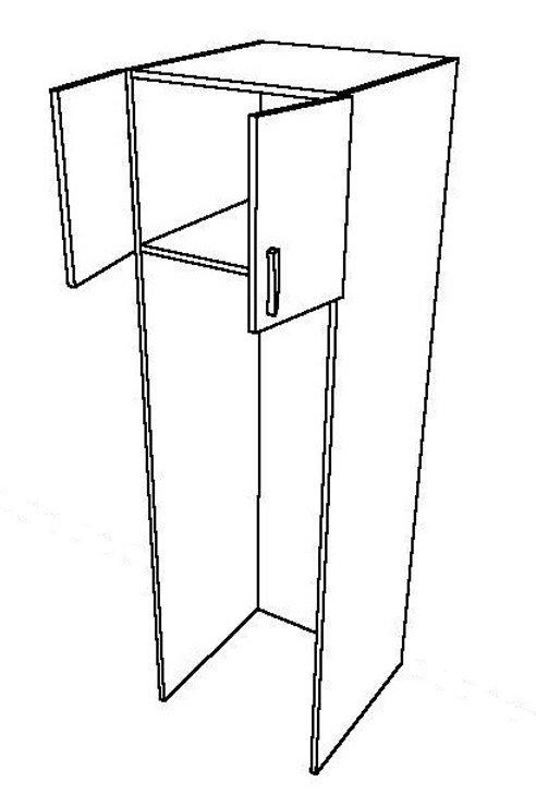 Fridge Tall Unit, 2 Swing Doors