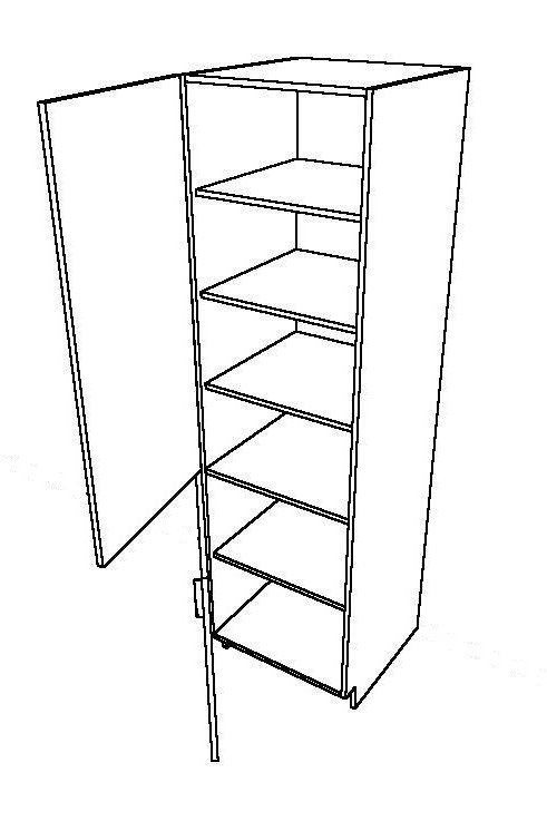 1 Swing Door, 2 Pieces Rotary Tall Unit