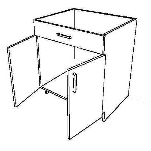 1 False Drawer Sink Base Cabinet