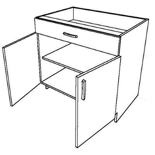 1 False Drawer Stove Base Cabinet