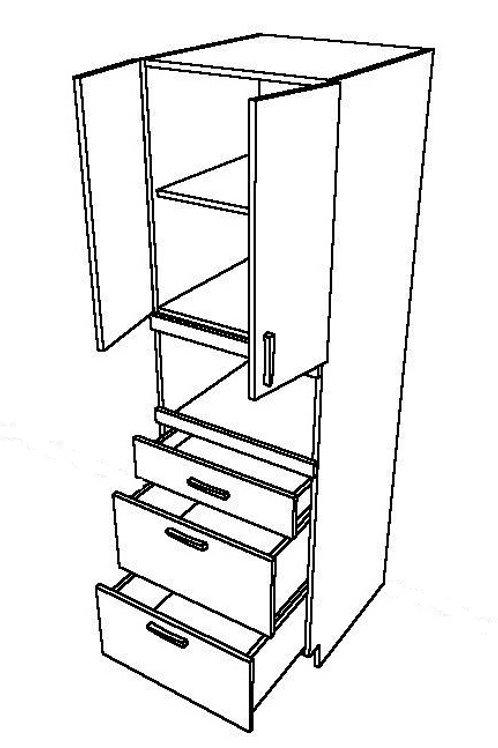 2 Swing Doors 3 Drawers Unit_2