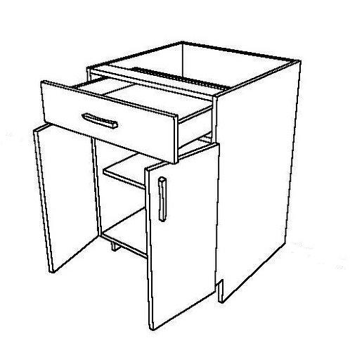 "1 Drawer & 2 Swing Doors Base Cabinet - 27"" W x 34 1/2"" H"