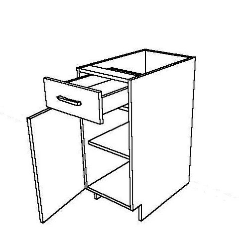 1 Drawer and 1 Swing Door Base Cabinet