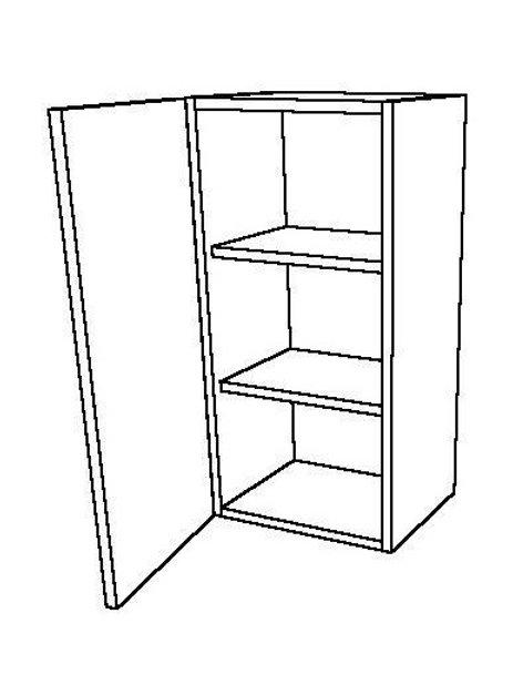 1 Swing Door 2 Shelves Wall Unit
