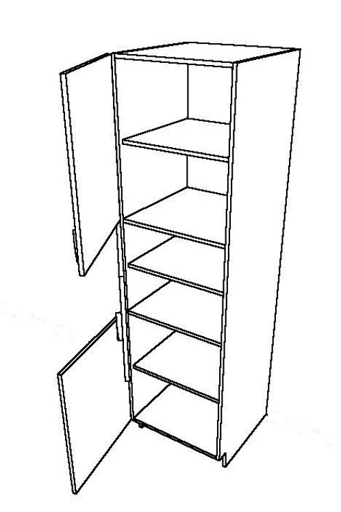 3 Piece Doors, Six Layers, Side Pull Basket Tall Unit