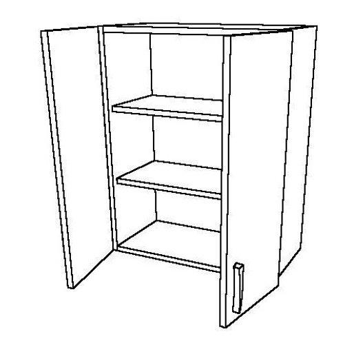2 Swing Doors 2 Shelves Wall Unit