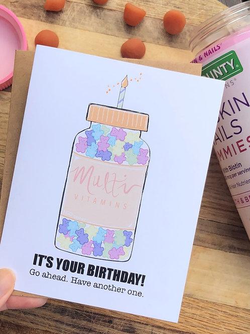 Gummy Vitamin Birthday