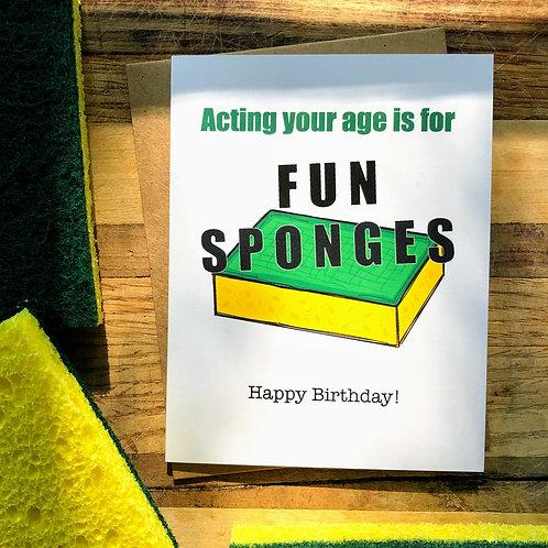 Fun Sponge Birthday