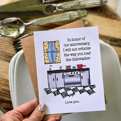 Dishwasher Anniversary