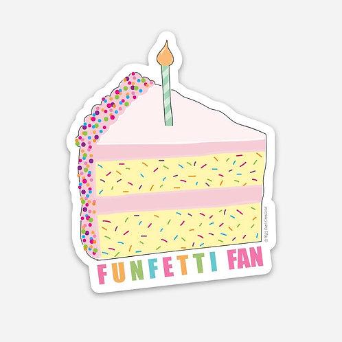Funfetti Fan Sticker