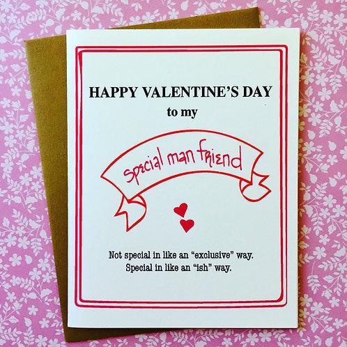 Special Man Friend Valentine