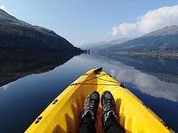 Hire a canoe for a tranquil paddle on Loch Long