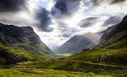 A view down Glencoe on the Glencoe-Oban loop