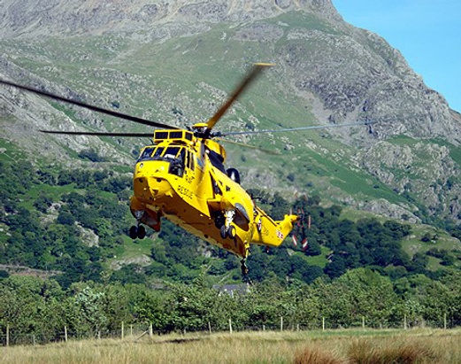 A helicopter in Arrochar
