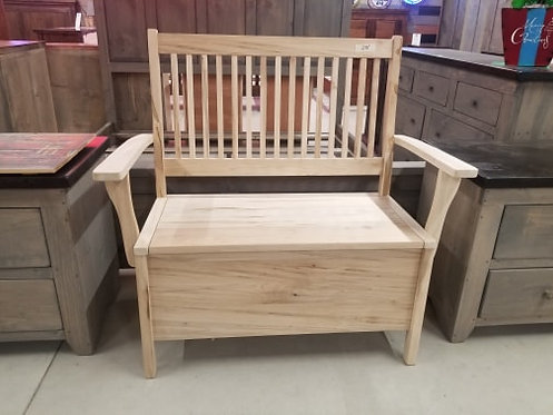 Mennonite Deacon's Bench with Deep Storage