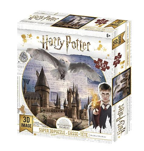 Hogwarts &Hedwig 3D 300 Piece Puzzle