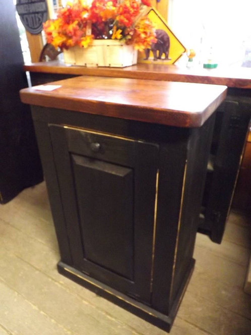 Amish Single Garbage Can Unit