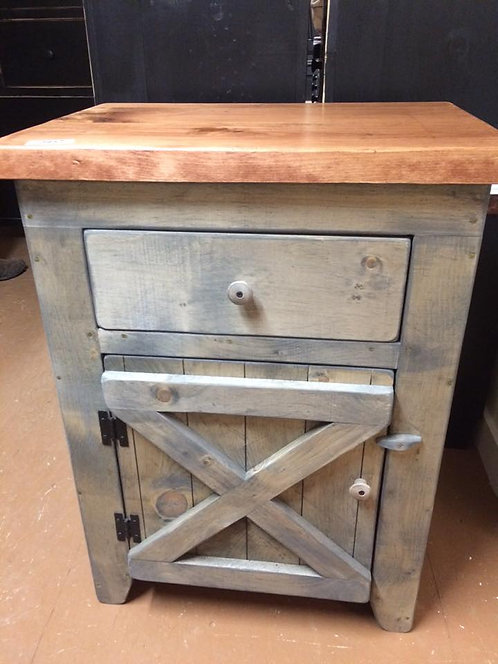 Amish Barn Door Nightstand