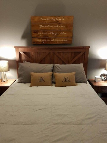 Amish Double Headboard ONLY- 2 Styles