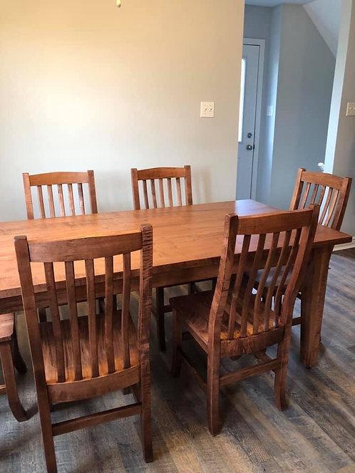Mennonite Wormy Maple 6' Table