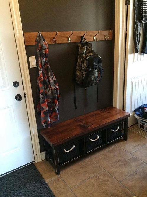Amish 3 Basket Bench