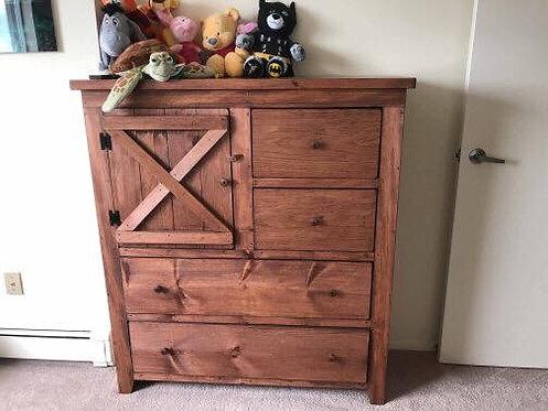 Amish Wide Barn Door Dresser