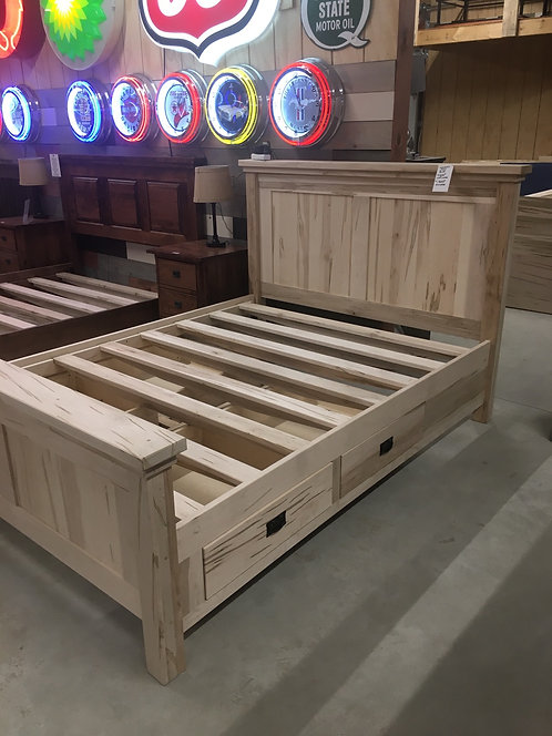 Mennonite King Shaker Bed w/Drawers