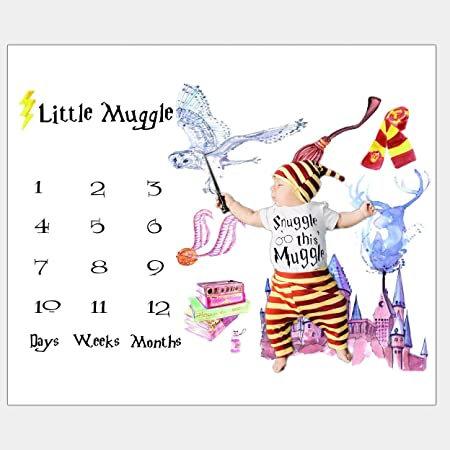 Little Muggle Milestone Blanket