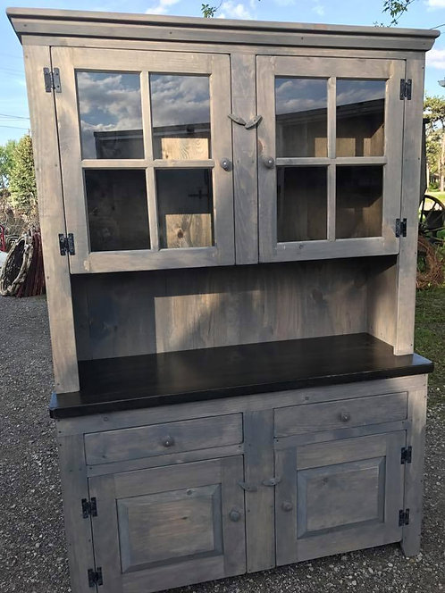 Amish XL Window Hutch- 2 Styles