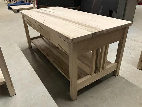 "Mennonite 42"" x 21"" Mission Coffee Table"