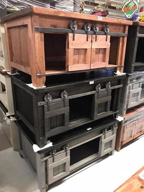 Amish Sliding Door Coffee Table- 2 Sizes