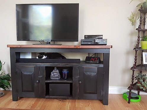 "Amish Pine 55"" Open Console- 2 Depths"