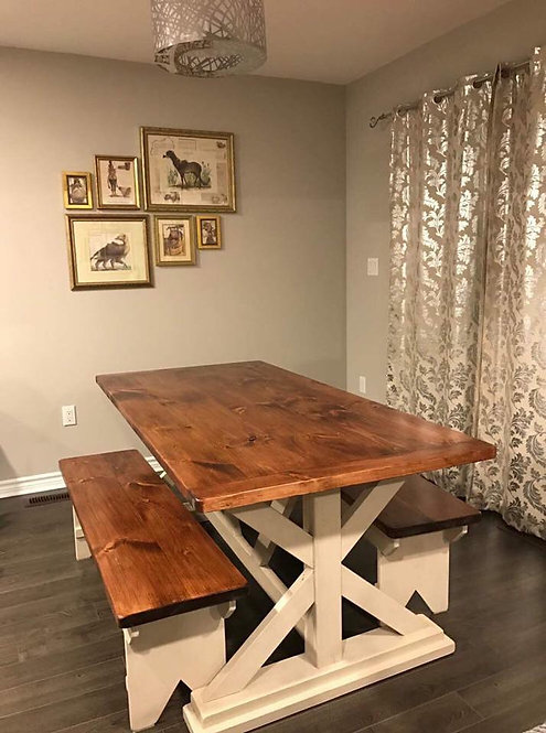 Amish Footed Harvest Table