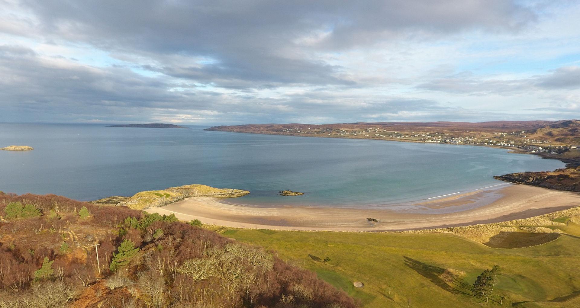 Gairloch beach and golf course
