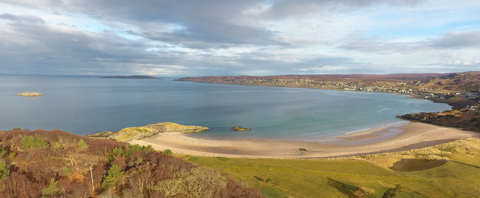 Gairloch beach and golf course