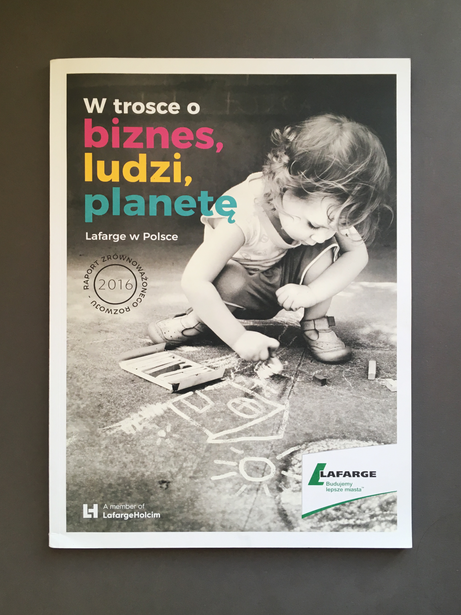 Sustainability report design for Lafarge