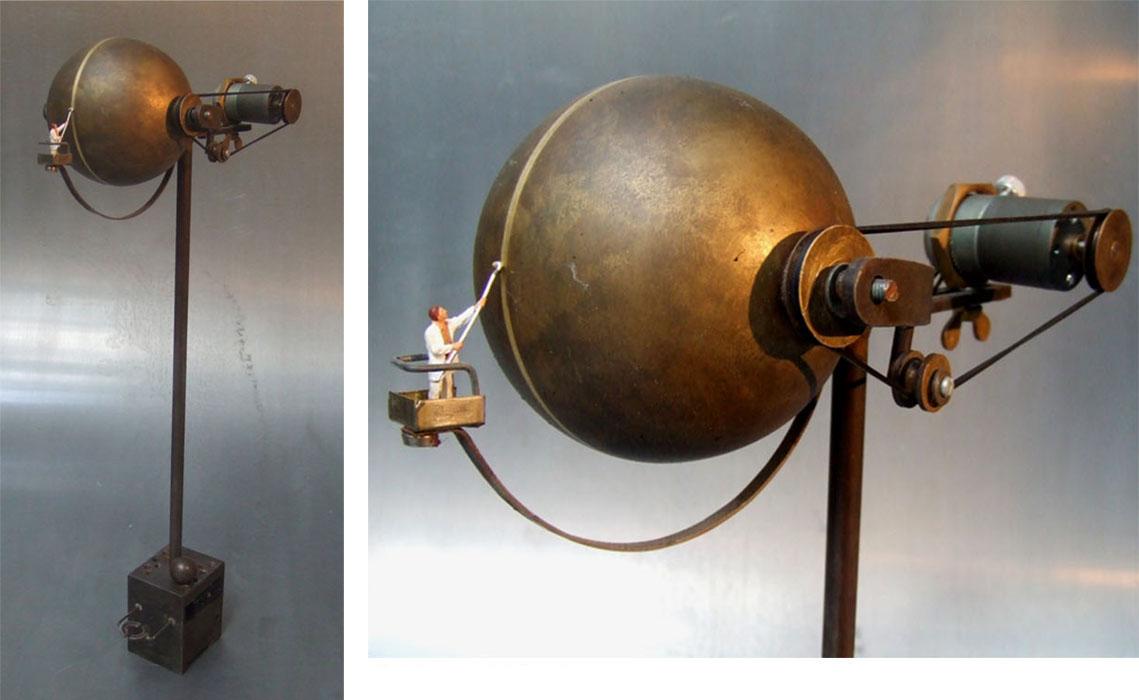 Peintre en sphere / 2011 / (vendu)