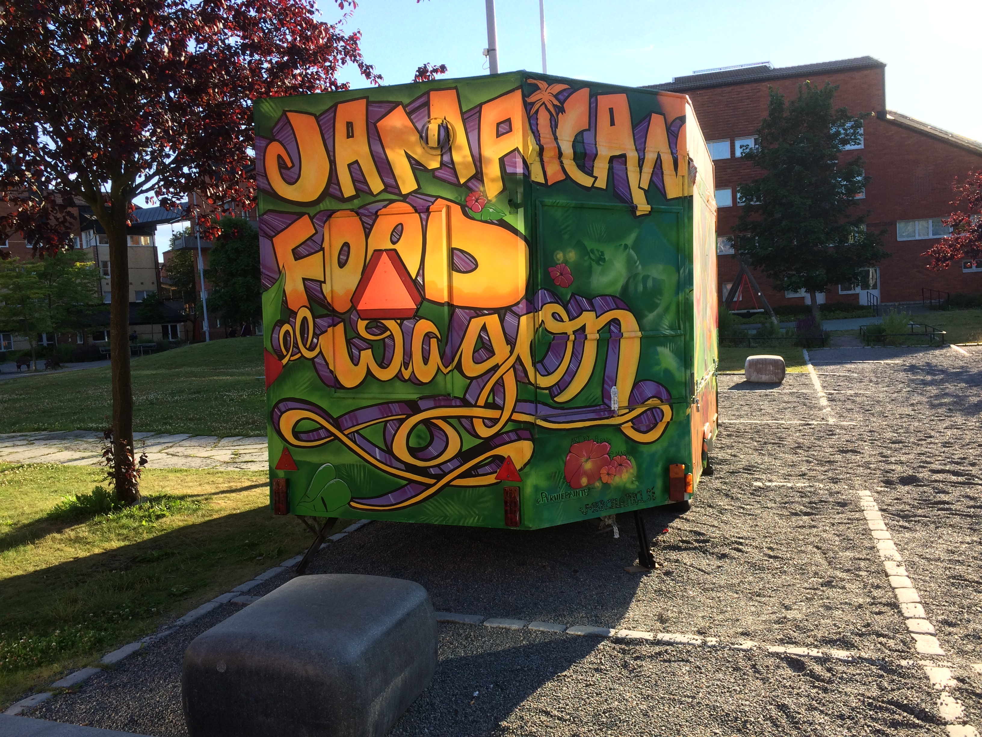 Jamaican food wagon