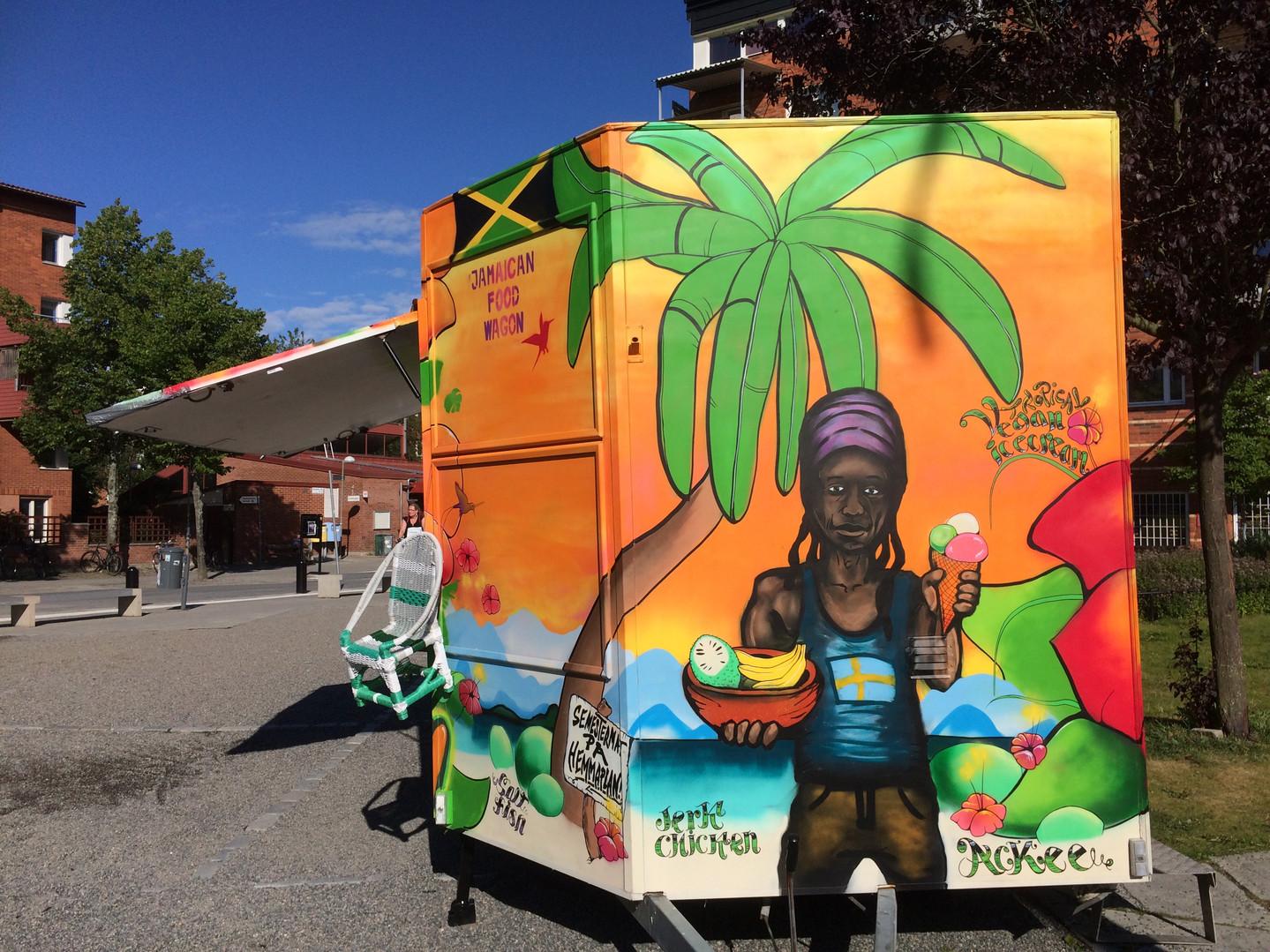 Jamaican food wagon